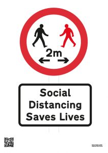 Social Distancing Saves Lives A4