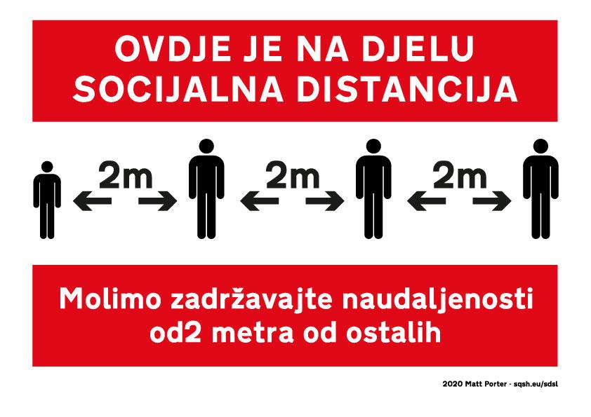 Ovdje je na djelu socijalna distancija. Molimo zadržavajte na udaljenosti od 2 metra od ostalih