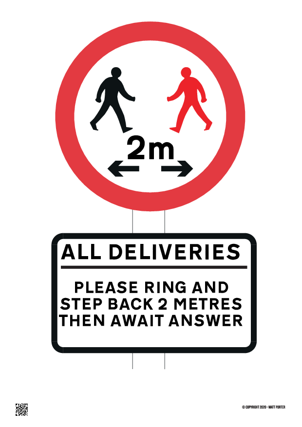 All Deliveries Please Ring and Step Back 2M