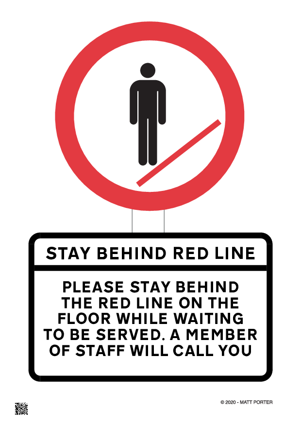 Social Distancing - Please Stay Behind the Line - Free Downloadable Sign / Poster