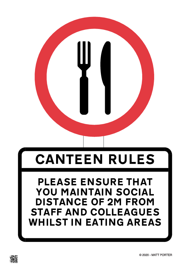 Social Distancing - Canteen Sign - Free Downloadable Sign / Poster