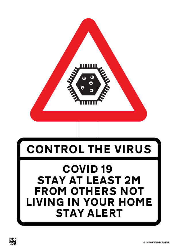 Covid-19 Control the Virus - Control the Virus Poster / Information Sheet