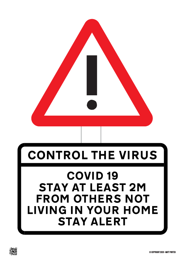 Covid-19 Stay Alert - Control the Virus - Control the Virus Poster / Information Sheet