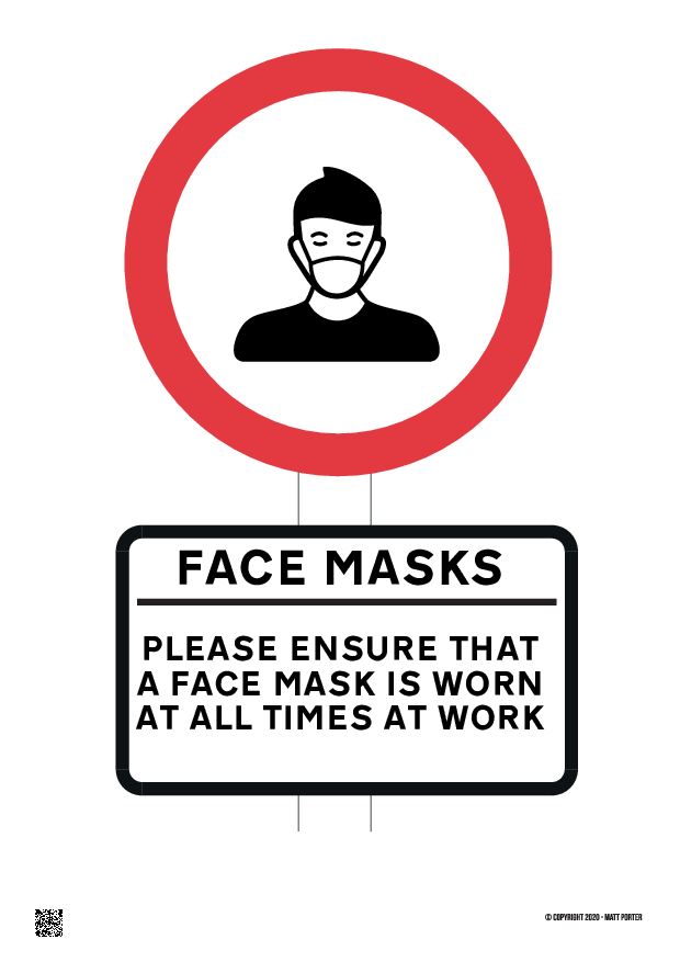 Please ensure a face mask or covering is worn at all times