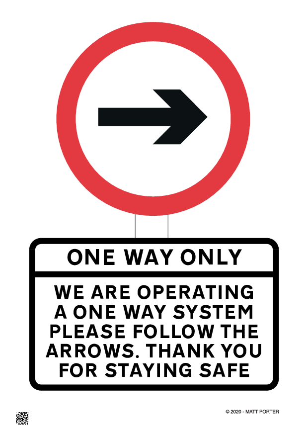 One Way System in Operation Here - Right Hand - Poster Generator / Sign Maker