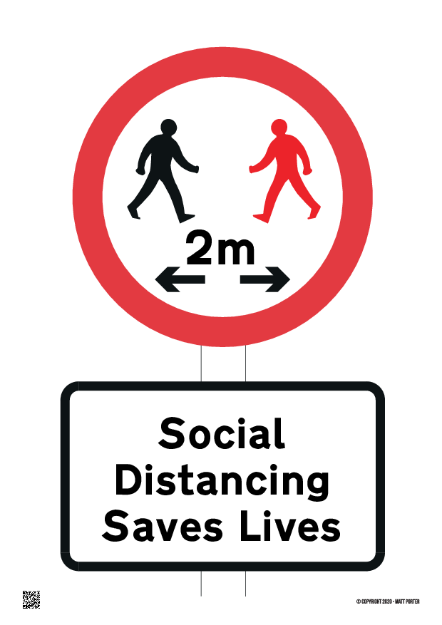Customisable Social Distancing Saves Lives Free Downloadable Sign plus it can now be ordered online