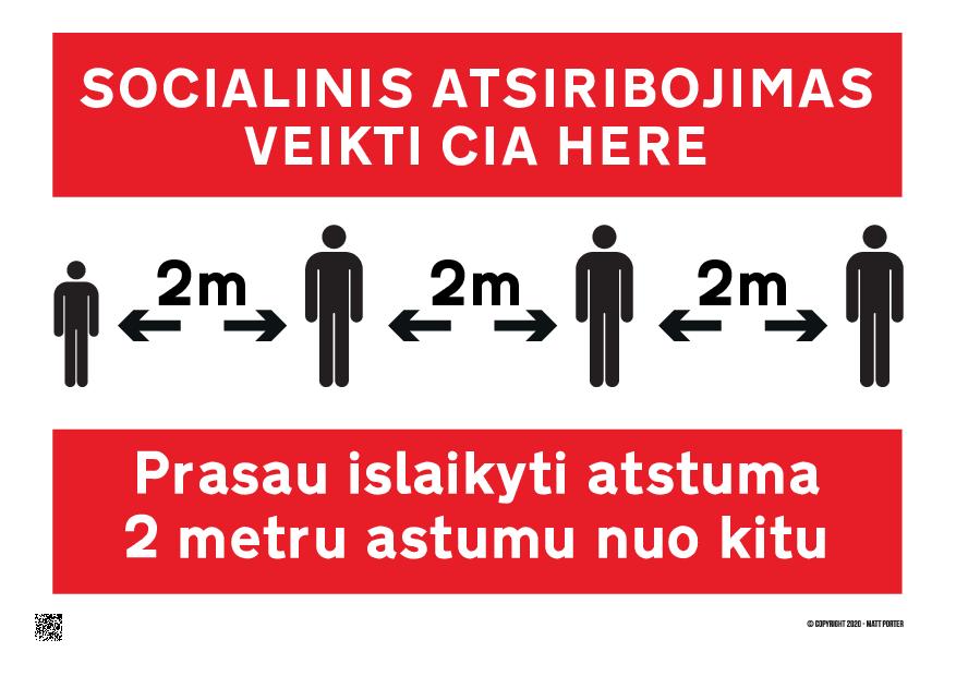 socialinis atsiribojimas veikti cia Prasau islaikyti atstuma 2 metru astumu nuo kit