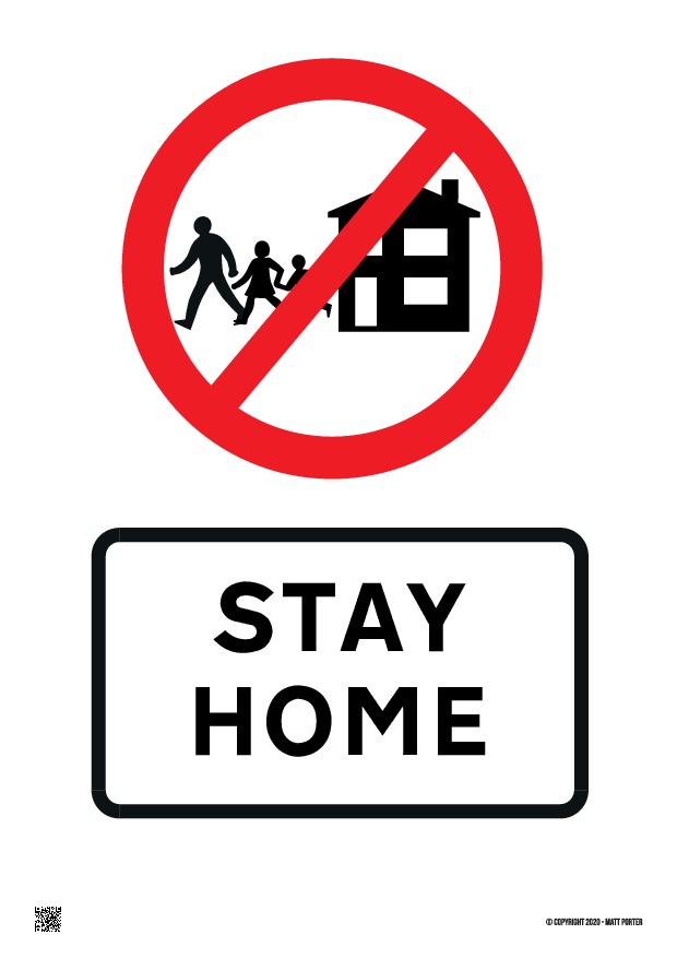 Stay Home Customisable Poster with Live Preview - Social Distancing