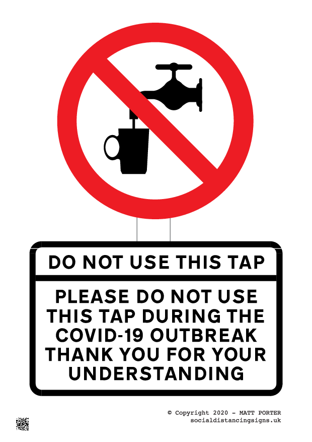 Please Do Not Use This Tap During the COVID-19 Outbreak - Custom Sign / Poster Maker
