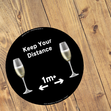 Pubs, Bars and Restaurants - Keep Your Distance - One Metre Plus