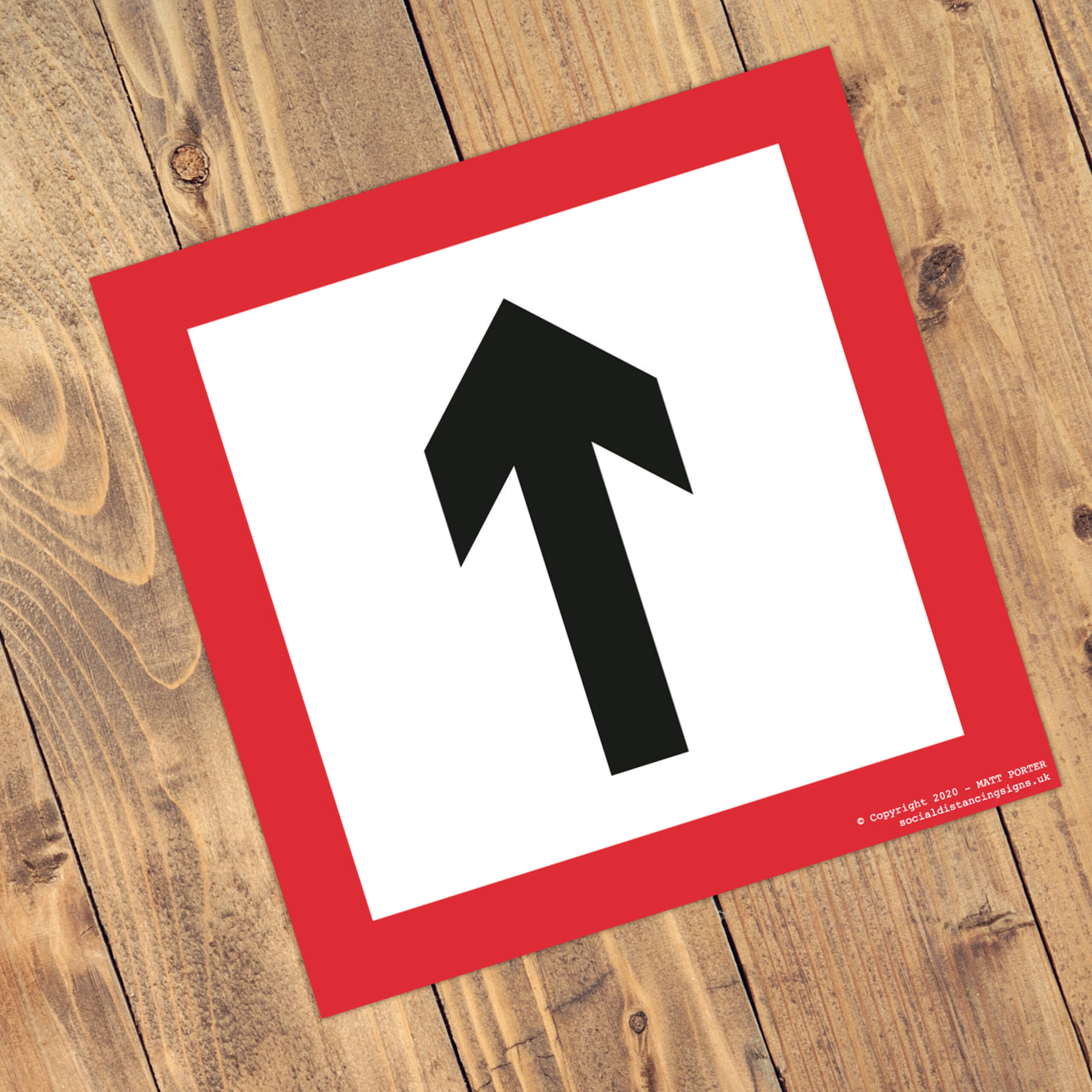 Social Distancing Square Anti-Slip Floor Arrow Stickers (300mm x 300mm)