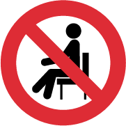 64mm Do Not Sit On This Chair - Version 2 - Round Stickers