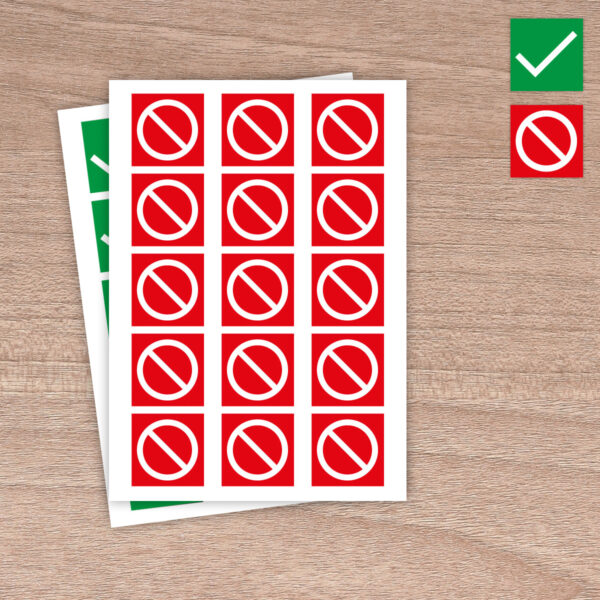 """51mm """"Do Not Sit Here"""" - Red Warning - House of Commons style Square Stickers"""