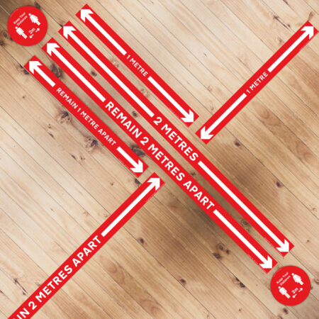 Self Adhesive Floor Measurement Red White Strips