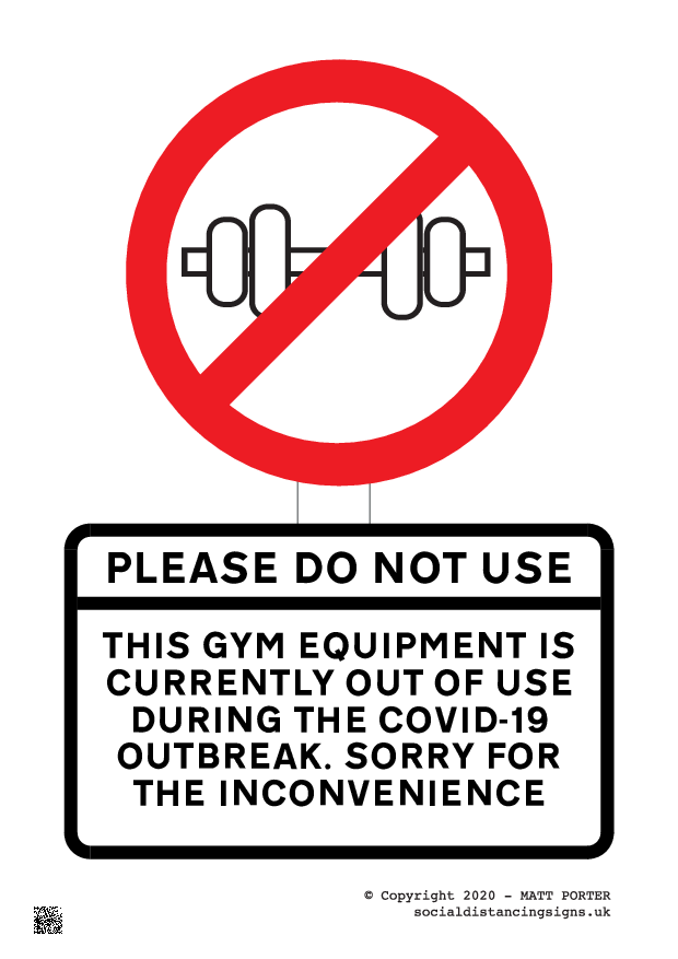 Please Do Not Use This Gym Equipment - Custom Poster Generator