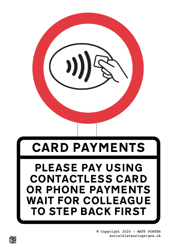 Contactless Payment Only - Please Swipe Your Card Here