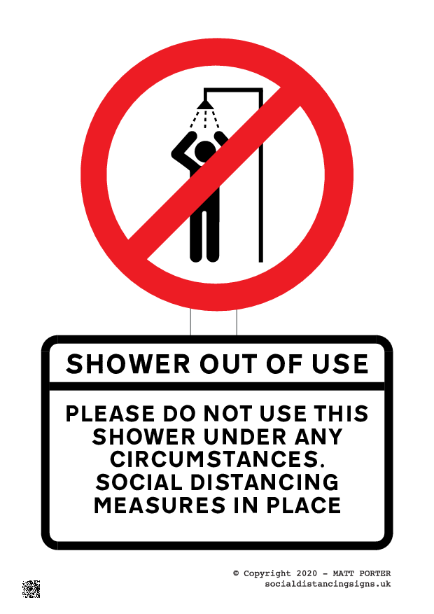 This Shower is Out of Order - Sign Maker