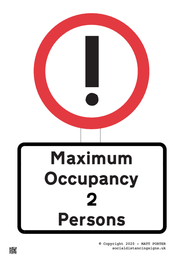 Covid-19 - Maximum Occupancy Shop Window Sign - Poster Maker