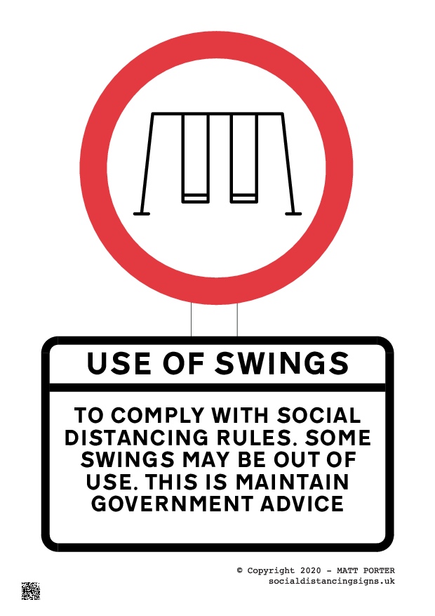 Social Distancing Sign for Playgrounds - Sign and Poster Maker for Download