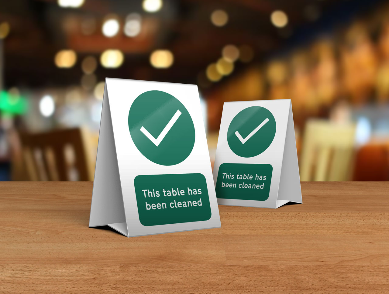 This Table is Ready for Use Tent Card for Restaurants, Cafes and Pubs